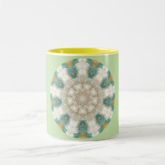 Baby Knitting Fractal Two-Tone Coffee Mug