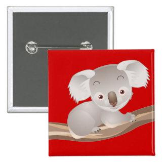 Baby Koala 15 Cm Square Badge