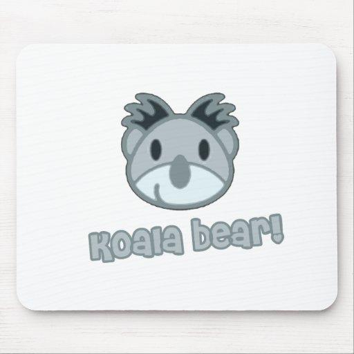 Baby Koala Bear Cartoon Mouse Pad
