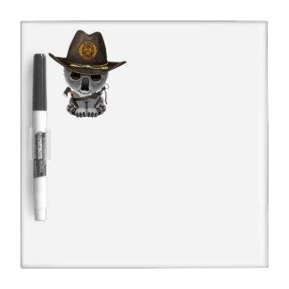 Baby Koala Zombie Hunter Dry Erase White Board