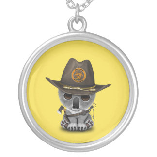 Baby Koala Zombie Hunter Silver Plated Necklace