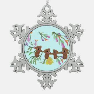 Baby Koalas Snowflake Ornament