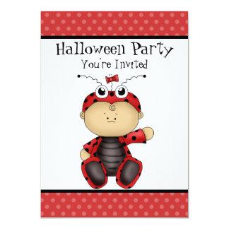 Baby Ladybug Halloween Party 13 Cm X 18 Cm Invitation Card