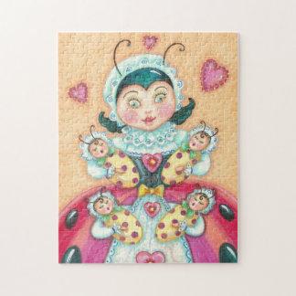 Baby Ladybugs Family PUZZLE With GIFT BOX