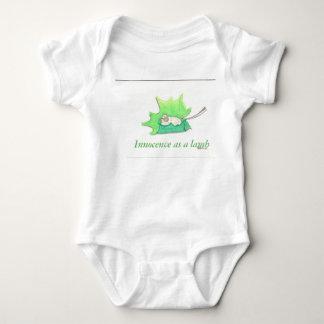 baby lamb in a maple leaf baby bodysuit