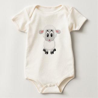 Baby Lamb So Cute Baby Bodysuit