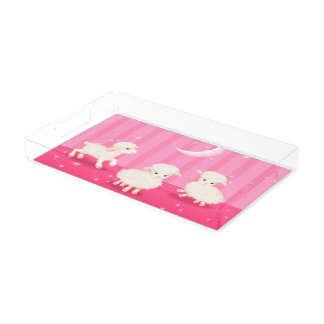 Baby Lambs Acrylic Tray
