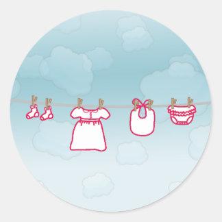 Baby Laundry - Girl Classic Round Sticker
