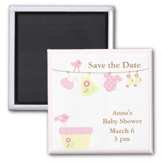 Baby Laundry (pink) Magnet