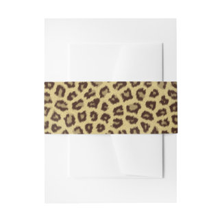 Baby Leopard Spots Invitation Belly Band