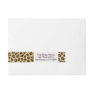 Baby Leopard Spots Wraparound Address Label