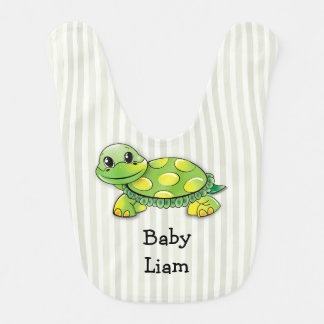 Baby Liam, Cute Turtle Big, Personalize It! Bib