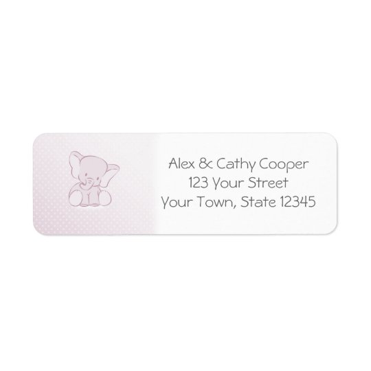 Baby Lilac Elephant Return Address Label