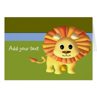 Baby Lion/Customize Card
