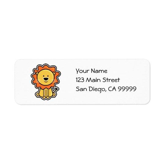 Baby Lion Sticker Return Address Label