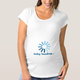 Baby Loading - blue Maternity T-Shirt