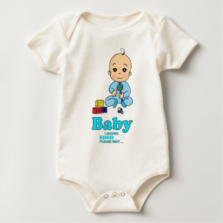 Baby Loading Please WAIT pregnancy birth Baby Bodysuit