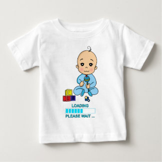 Baby Loading Please WAIT pregnancy birth Baby T-Shirt