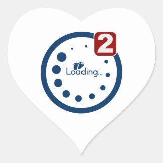 Baby Loading , Twin Notification Heart Stickers