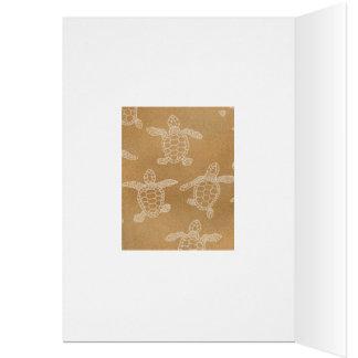 Baby loggerhead turtles card