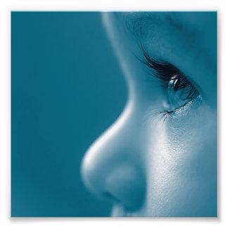 Baby Looking Child Face Eyes Eyelashes Blue Photo Art