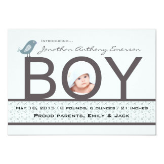 Baby Love - Photo Birth Announcement
