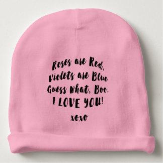Baby Love you Boo hat Baby Beanie