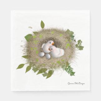 Baby Lovebirds  paper napkin by Gemma O Designs