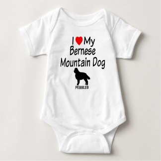 Baby Loves Bernese Mountain Dog Baby Bodysuit