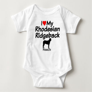 Baby Loves Rhodesian Ridgeback Dog Baby Bodysuit