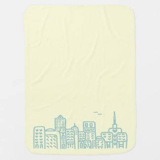 """BABY LOVES THE CITY"" BABY BLANKET"
