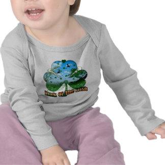 Baby Luck Of The Irish T Shirt With Shamrock