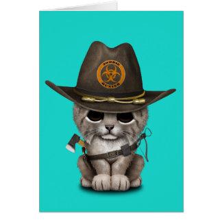 Baby Lynx Zombie Hunter Card
