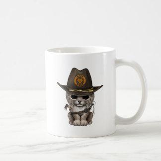 Baby Lynx Zombie Hunter Coffee Mug