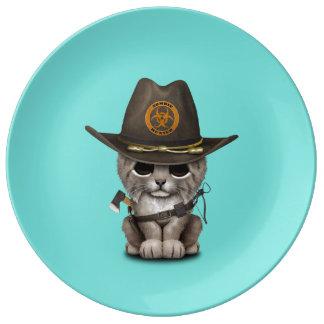 Baby Lynx Zombie Hunter Plate