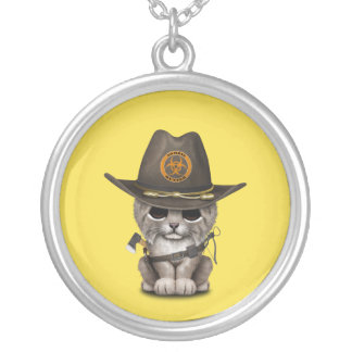 Baby Lynx Zombie Hunter Silver Plated Necklace
