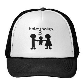 Baby Makes 3 Trucker Hat