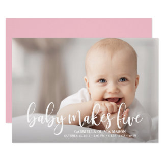 Baby Makes Five Card