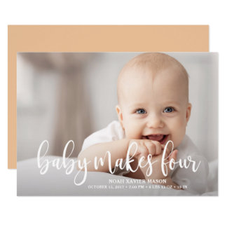 Baby Makes Four Card