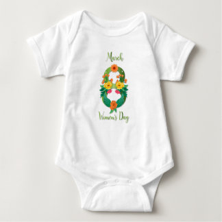 Baby March 8 Womens Day Baby Bodysuit