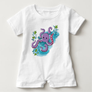 'baby max' Olive-the-Octopus Baby Romper Baby Bodysuit
