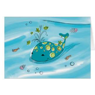 'baby max' Willie-the-Whale Greeting Card