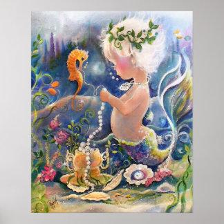 Baby Mermaid Poster