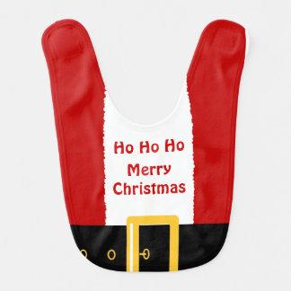 Baby Merry Christmas Santa Suit Custom Bib