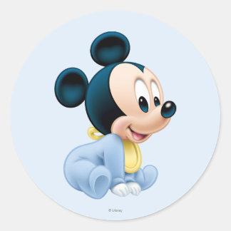 Baby Mickey | Blue Pajamas Classic Round Sticker
