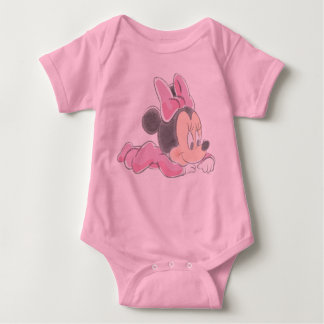 Baby Minnie Mouse | Pink Pajamas Baby Bodysuit