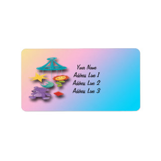 Baby Mobile Baby Shower Address Labels