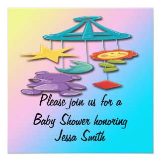 Baby Mobile Baby Shower Invitations