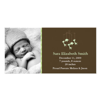 Baby Mobile Birth Announcements Customised Photo Card