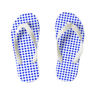 Baby-Mod-Blue-Floral-Step's(c) Multi-Sizes Kid's Thongs